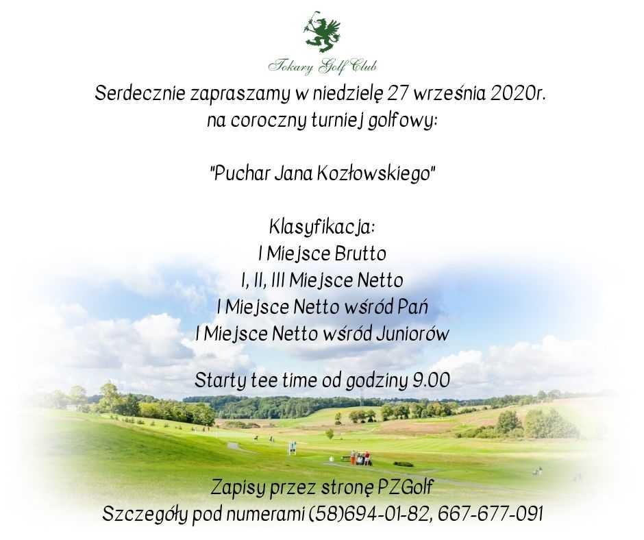 LISTA STARTOWA - PUCHAR JANA KOZŁOWSKIEGO